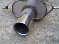 Stromung Single Muffler for 93 to 2005 RS, TS